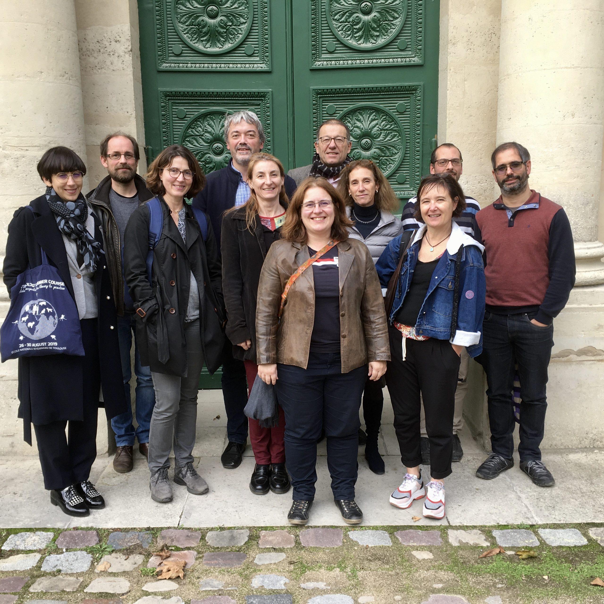 Les membres du bureau de la SFP, société française de parasitologie